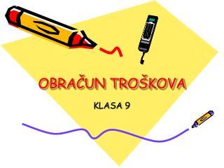 OBRACUN TRO KOVA