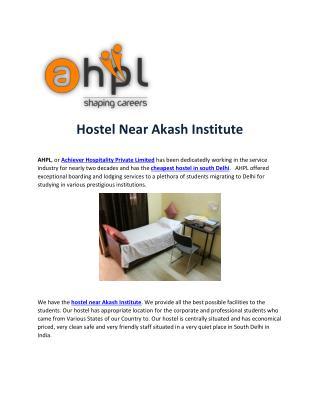 Hostel Near Akash Institute