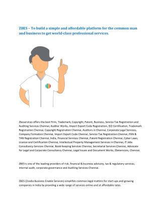 Trademark Registration in Chennai - Zbeservices