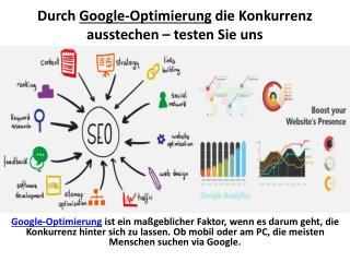 Durch Google-Optimierung die Konkurrenz ausstechen – testen Sie uns
