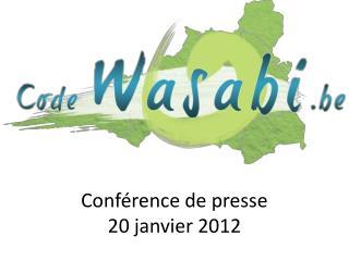 Conf rence de presse 20 janvier 2012