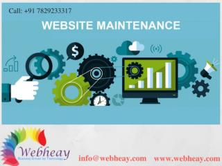 Website Maintenance Company Bangalore India
