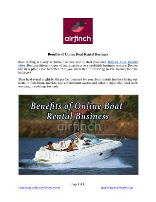 Benefits of Online Boat Rental Business