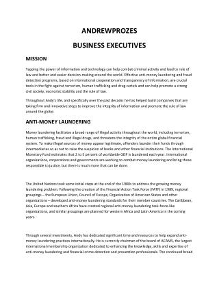 AndrewProzes  Business Executive
