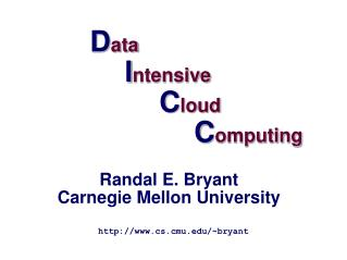 Data  Intensive   Cloud    Computing