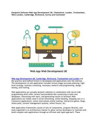 Eastpoint Software Web App Development UK, Chelmsford, London, Twickenham, West London, Cambridge, Richmond, Surrey and
