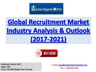 Recruitment Industry Analysis and Forecast to 2021 For Global Market