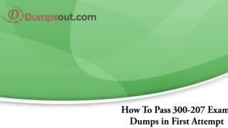 300-207 Exam Dumps