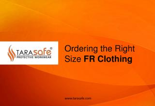 Ordering the right size FR Clothing