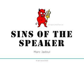 Sins of the Speaker (2014)