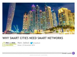 Smart Cities (FTTH MENA 2014)