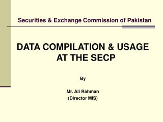 Securities  Exchange Commission of Pakistan