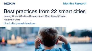 Smart Cities webinar (2016)