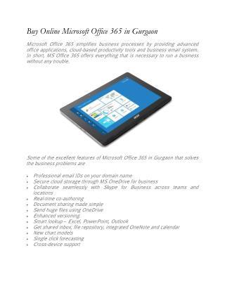 Buy Online Microsoft Office 365 inGurgaon