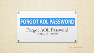 Forgot Aol Password