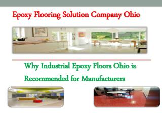 Epoxy Flooring Solution Company Ohio