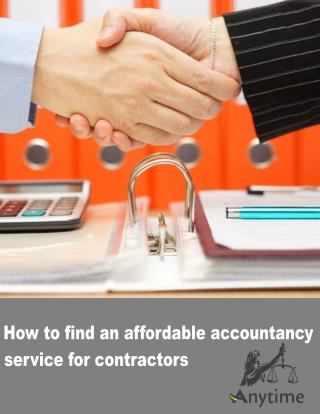 How to find an affordable accountancy service for contractors