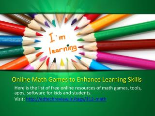 Free online math games, tools, apps, software for kids