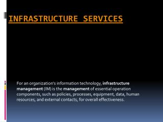 Infrastructure Services | An Efficient Way to Improve IT infrastructure