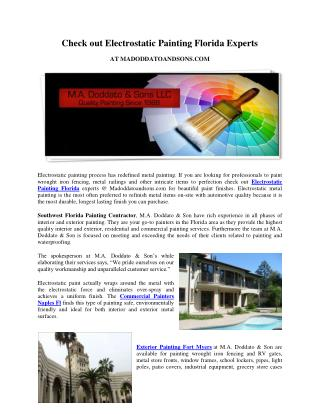 Check out Electrostatic Painting Florida Experts