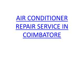 AC Repair service in coimbatore