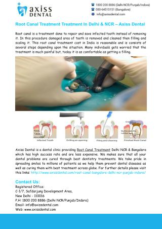 Root Canal Treatment Delhi NCR - Axiss Dental