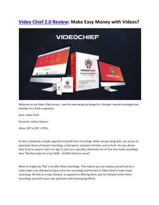 Video Chief 2.0 Review