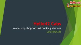 Airport Taxi _Hello42 cab