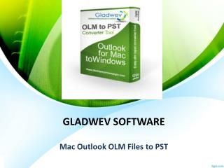 Mac Outlook OLM Files to PST