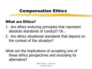 Compensation Ethics