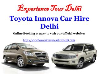 Innova Car Hire Delhi, Toyota Innova car on Rent