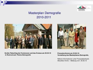 Masterplan Demografie  2010-2011
