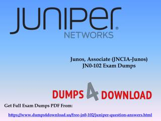 Final Juniper JN0-102 Exam Study Material - Dumps4Download.us