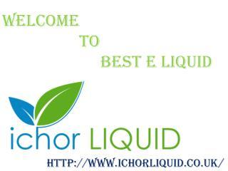 Best VG E Liquid in UK