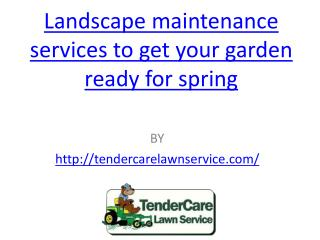 Landscape maintenance services to get your garden ready for spring