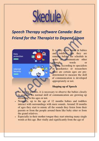 Speech Therapy software Canada: Best Friend for the Therapist to Depend Upon