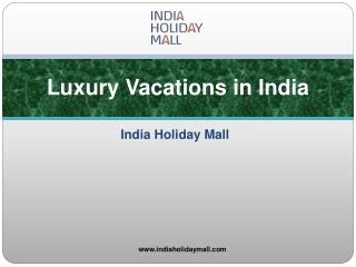 Luxury Vacations in India