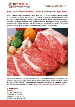 Buy Fresh Goat Mutton Online Parsippany