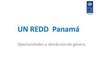 UN REDD  Panam