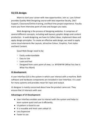 UI/UX Designer Training-Lync School