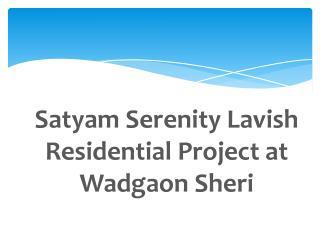 2 BHK Flats in Wadgaon Sheri at Satyam Serenity