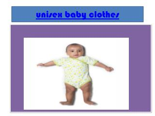 unisex kids clothes