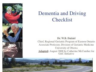 Dementia and Driving Checklist
