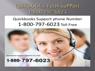 quickbooks tech support 1800 797 6023