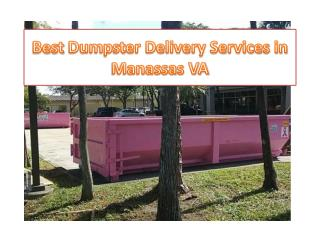 Best Dumpster Delivery Services in Manassas VA