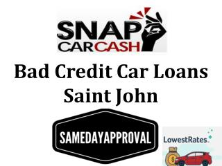Bad Credit Car Loans Saint John