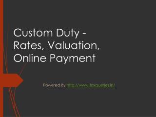 Custom Duty in India