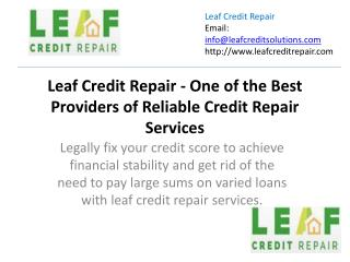 Leaf credit repair one of the best providers of reliable credit repair services