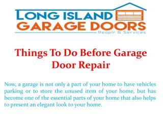 Things To Do Before Garage Door Repair