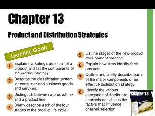 Chapter 13 Product and Distribution Strategies